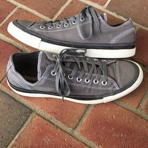 Converse All Star Gray & White Mens Shoes, Size 10